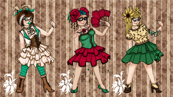 Hipster Lolita Plant Gijinka Adoptables :1/3 OPEN: by MissMignonne