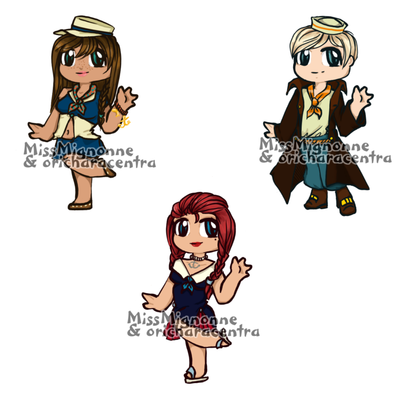 Nautical Chibi Adoptables :OPEN: by MissMignonne