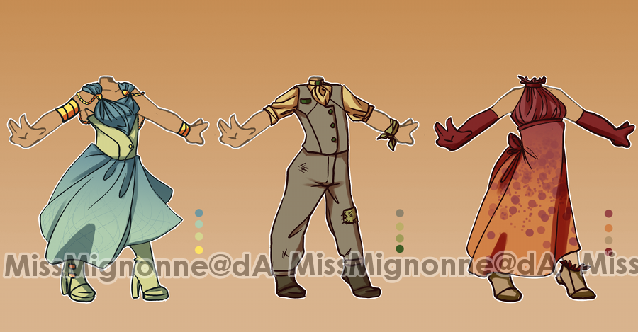 :OPEN: Outfit Adoptables 9 by MissMignonne