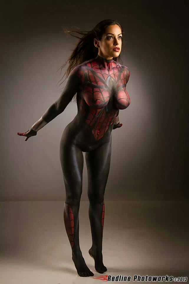 Spidergirl Body Paint Spider Girl Body Paint by