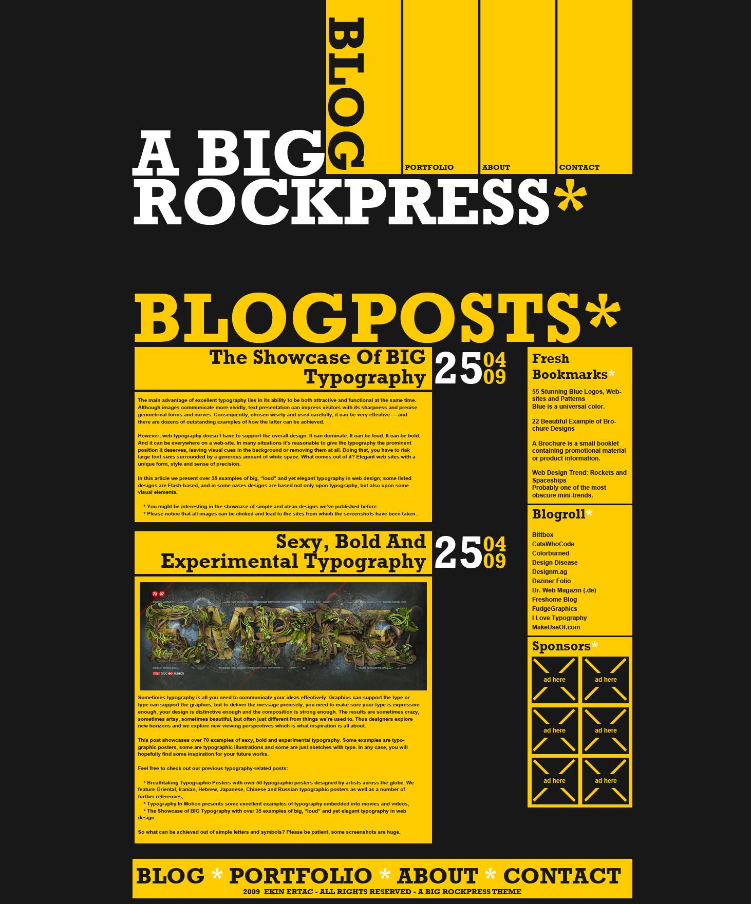 A Big Rockpress - Wordpress by Nodtveidt
