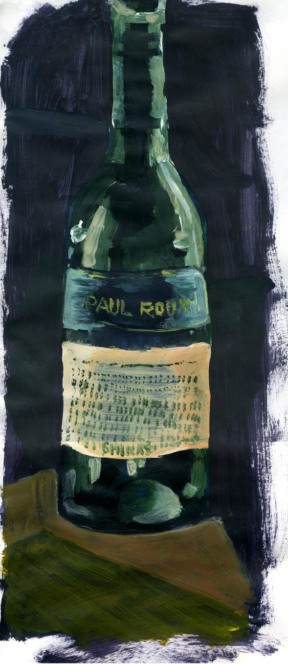 Wine bottle painting by kingmancheng on deviantart for What kind of paint to use for wine bottles