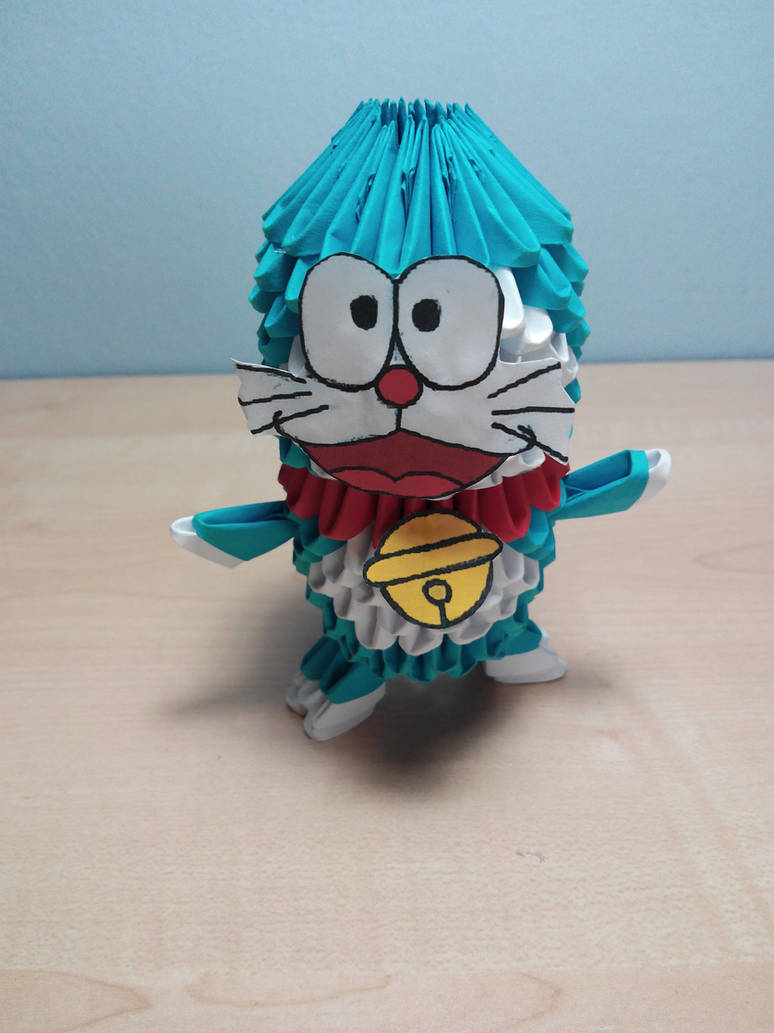 3D Origami Doraemon | Paper Doraemon Home Decoration - YouTube | 1033x774
