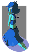 The sad blue witch by MintyAliens
