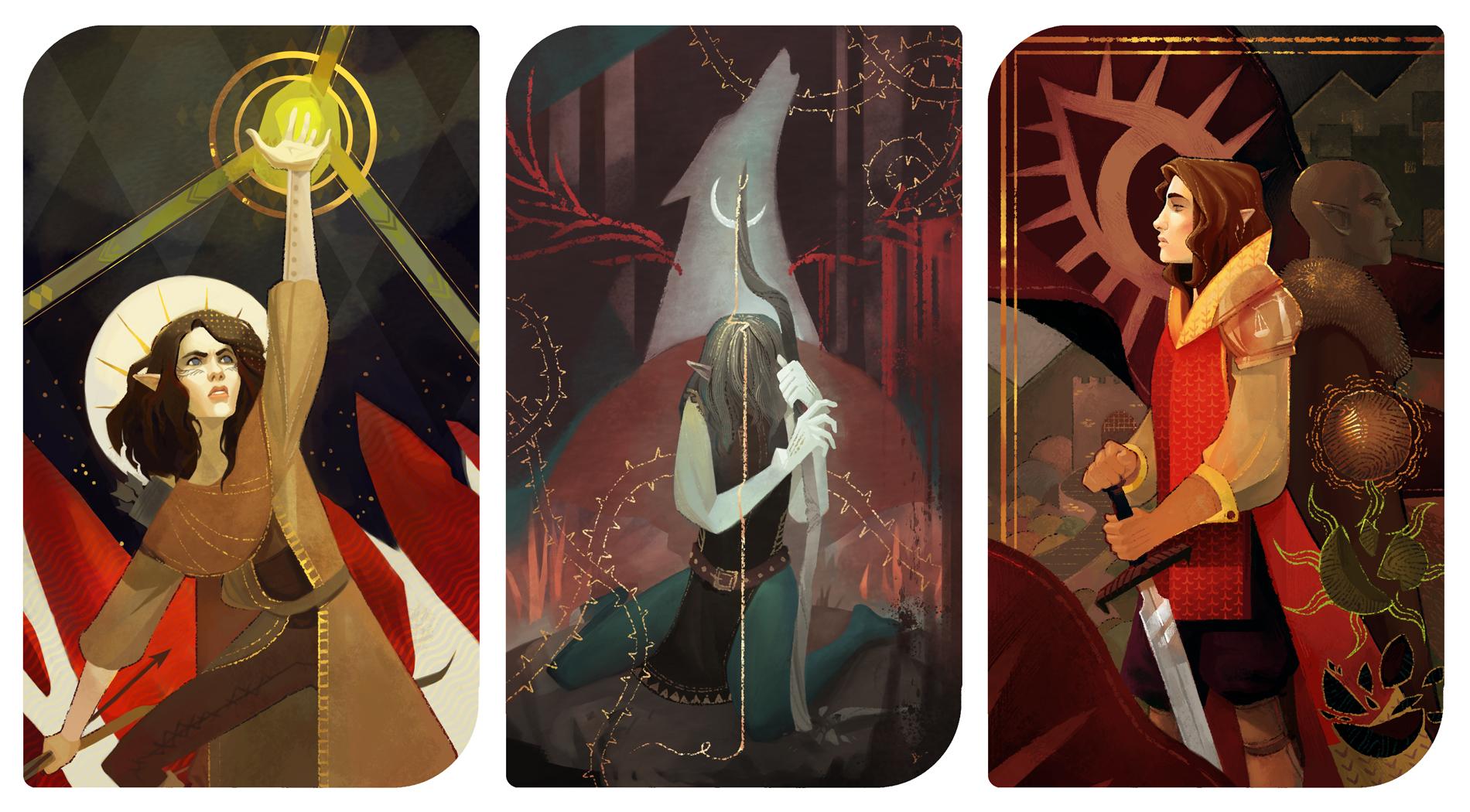Assana Lavellan: Dragon Age Inquisition Tarots By