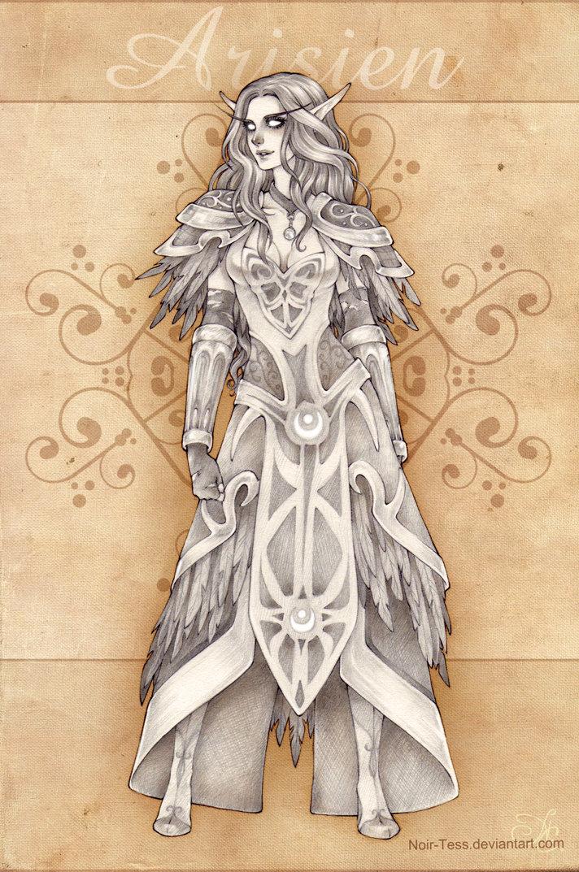 Arisien Character design by Nuaran