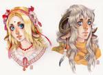 Watercolor headshots examples