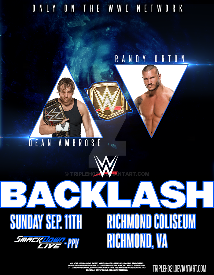 WWE BACKLASH 2016 Poster By Tripleh021