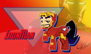 Ironman ponyfied - mini-wallpaper by PonyChaos13