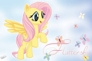 Fluttershy - Wallpaper 01 by PonyChaos13