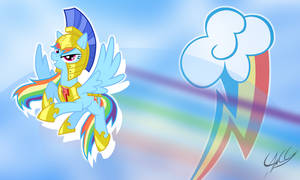 Rainbow Dash with armor - mini-wallpaper by PonyChaos13