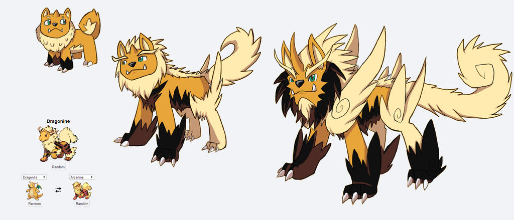 Fakemon Fusion Fire Starter by Eternity9