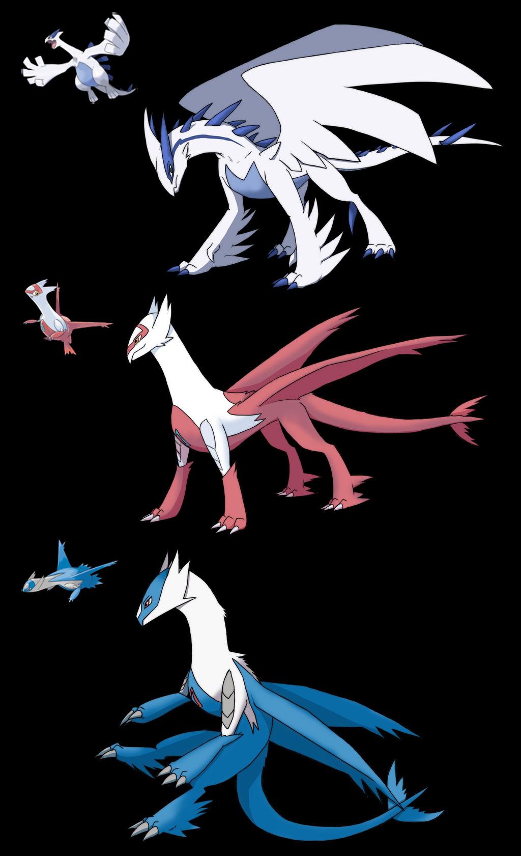 Custom Dragons Lugia Latias Latios by Eternity9 on DeviantArt