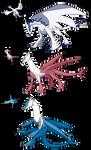 Custom Dragons Lugia Latias Latios