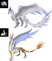 Custom Pokemon themed Dragons for LordHxt by Eternity9