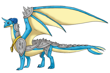 Commission: Gloria the Lapras Dragon by Eternity9