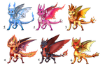 Fire Elemental Dragons Adopts: CLOSED