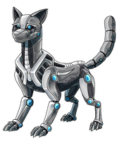 Commission: Robotic cat by Eternity9