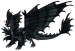 Commission: Chibi Darkness Dragon by Eternity9