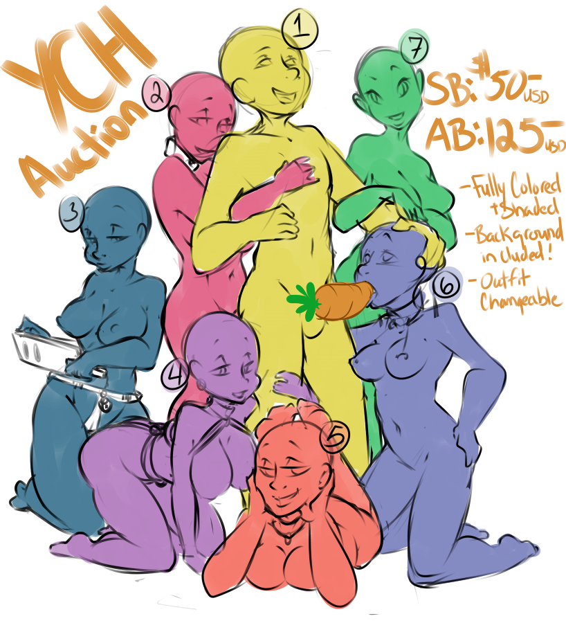 YCH Group Auction by Tiki-Sama