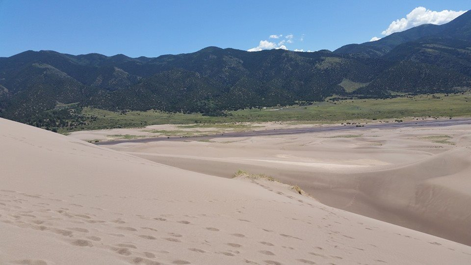 The Rockies from the Dunes by Slicenndice
