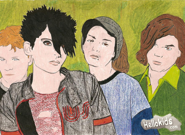 tokio hotel coloring pages - photo#4