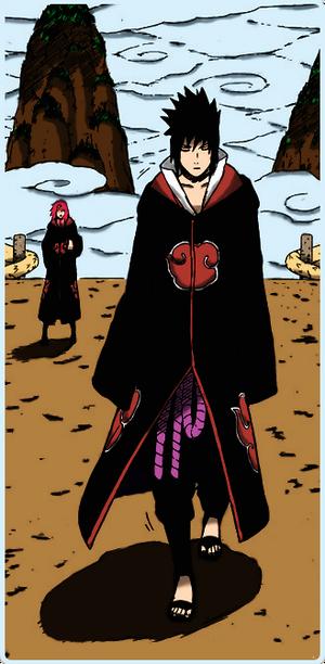 Sasuke and Karin on The Mountains
