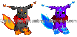 Volcan1st stage sprite-colored by AlbinoTheUmbreon