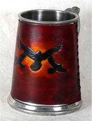 Sunset Ravens Tankard Cover by StephieSparkles