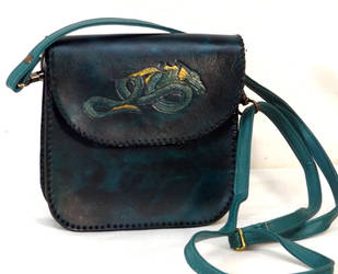 Teal Dragon Bag by StephieSparkles