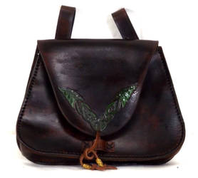 Green Leaf Bag by StephieSparkles