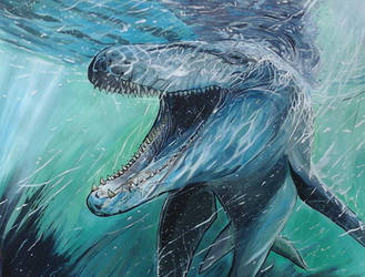 Mosasaur by Greenminerthescoffer