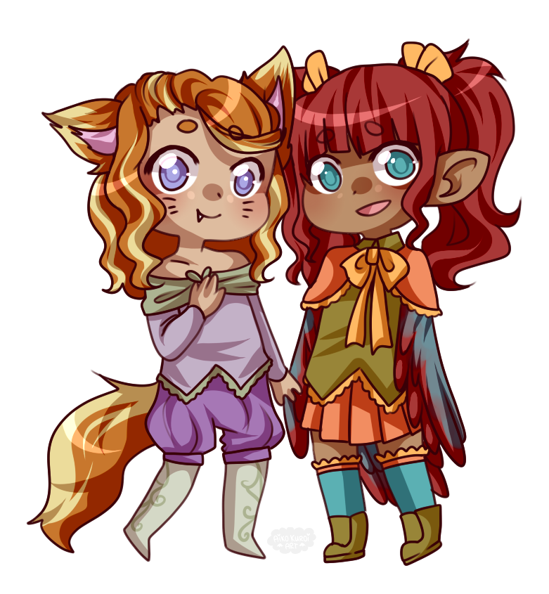 Ych Batch Number Three: Nadia And Ally By Blushingbats On DeviantArt