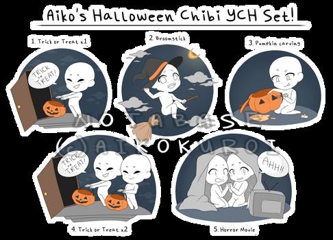 Aiko's Halloween Chibi YCH Set (REDO IN DESC!!)