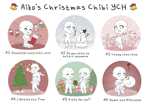 Christmas Chibi YCH - UPDATED IN DESCRIPTION