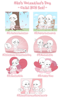Valentine's Day Chibi YCH Set - OPEN!! by blushingbats