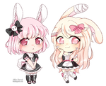 [C] Veronica and Mimi crayon chibis