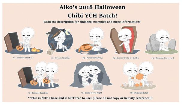 [OPEN] Aiko's 2018 Halloween Chibi YCH Batch! by blushingbats