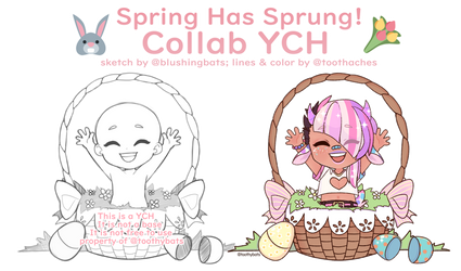 Spring Has Sprung! [$12/1200p COLLAB YCH // OPEN] by blushingbats