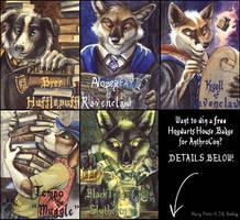 Free Hogwarts Badges by screwbald