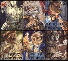 Hogwarts Badges by screwbald