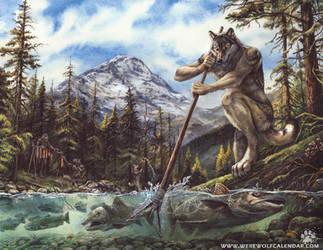 Werewolf Calendar - Salmon Run by screwbald