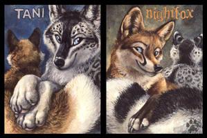 Tani and Nightfox Badges by screwbald