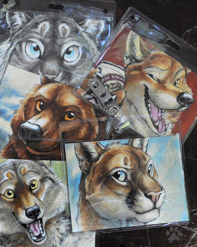 AnthroCon 2013 Ready-To-Wear Badges by screwbald