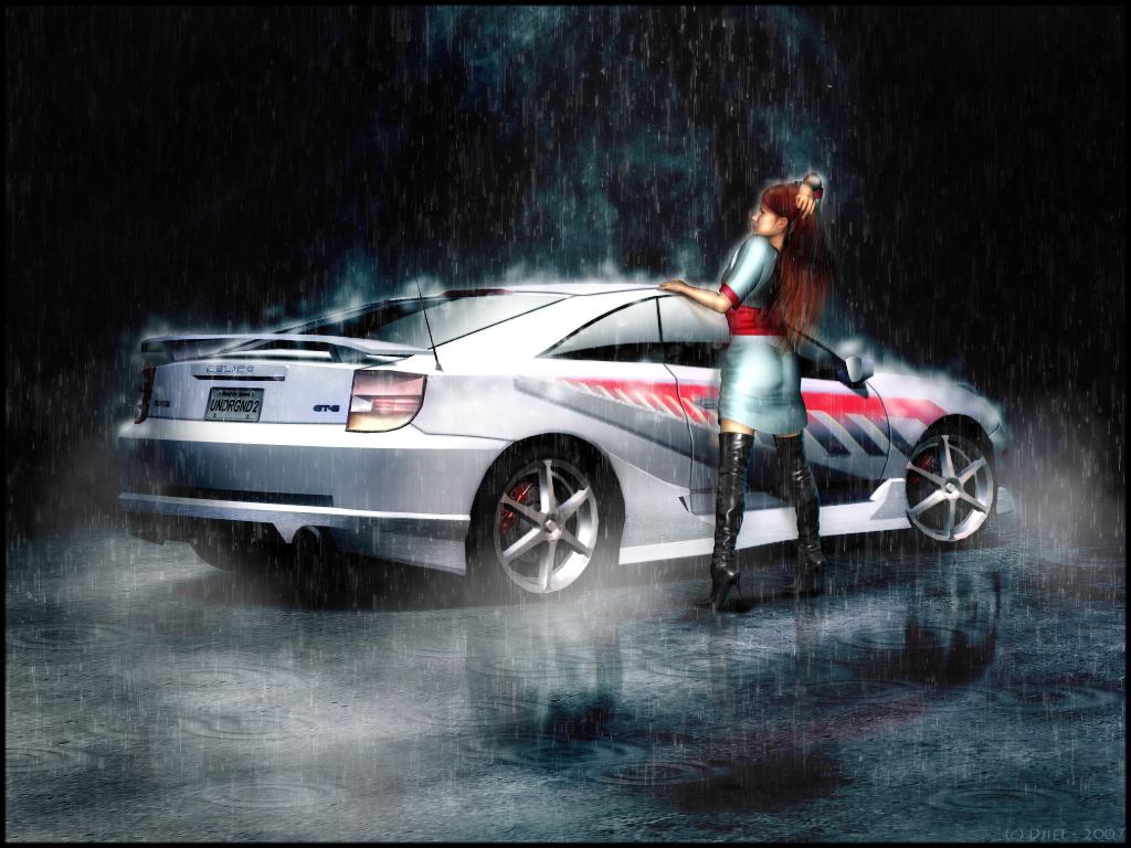 Toyota Celica JDM Fire Abstract Car 2014 | El Tony