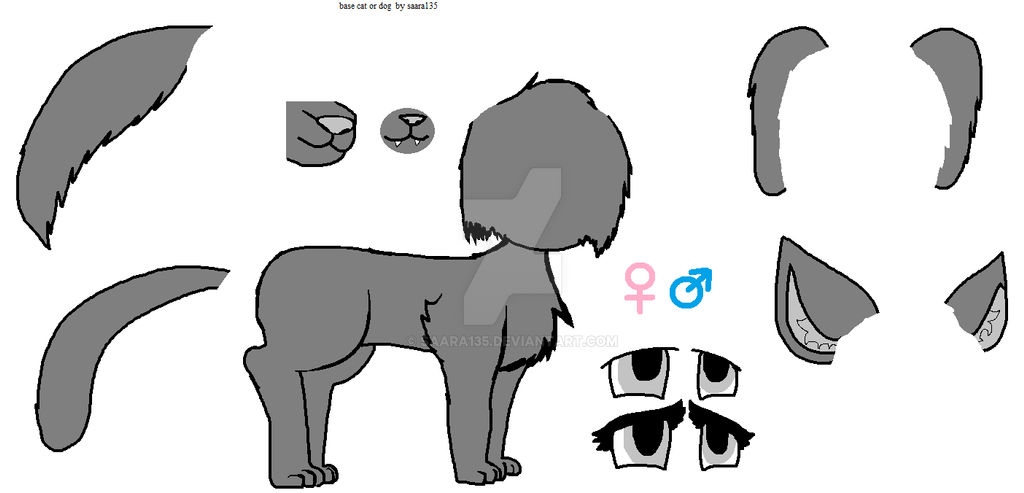 Base Anime Cat Or Anime Dog Female Or Male By Saara135 On