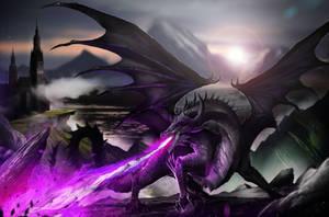 Nyx the Black Dragon by DoomGuy26