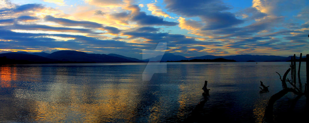 Late Evening on Loch Lomond (Panorama) by Crannogphotographic