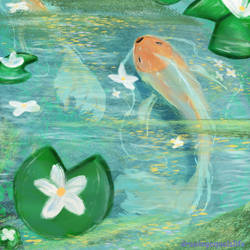 Goldfish Pond by drawingequalslife