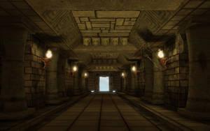Mayan corridor by t17dr